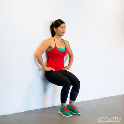 100 Second Wall Sit Challenge