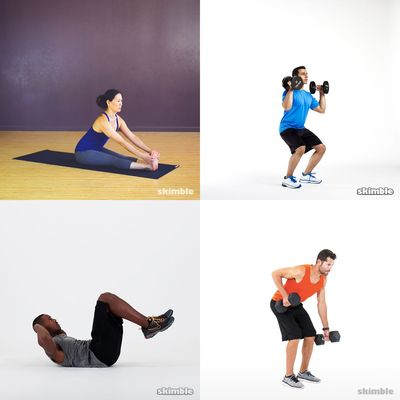 Hayat's quick workouts