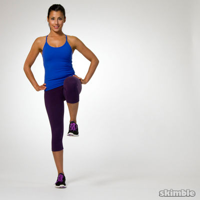Right Side Lunges to Leg Balance