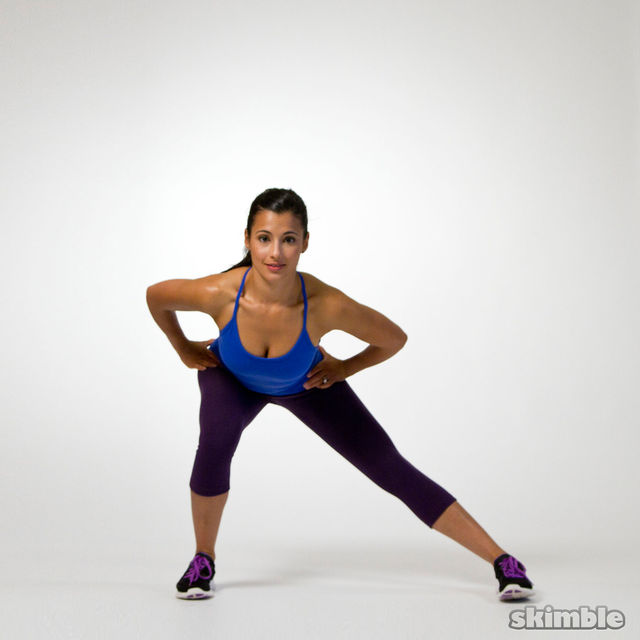 How to do: Right Side Lunges to Leg Balance - Step 1