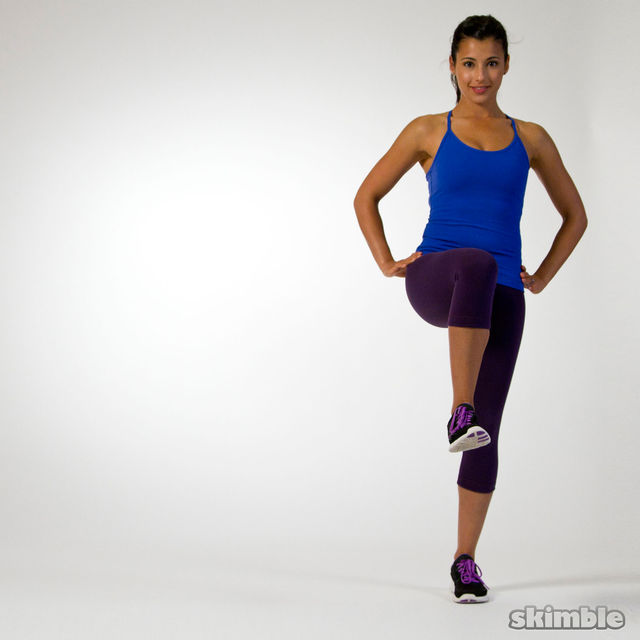 How to do: Right Side Lunges to Leg Balance - Step 2