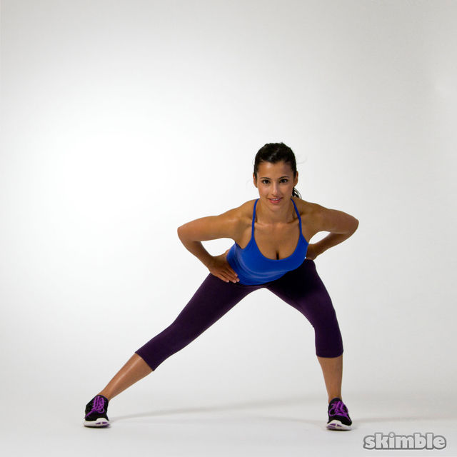 How to do: Left Side Lunges to Leg Balance - Step 1