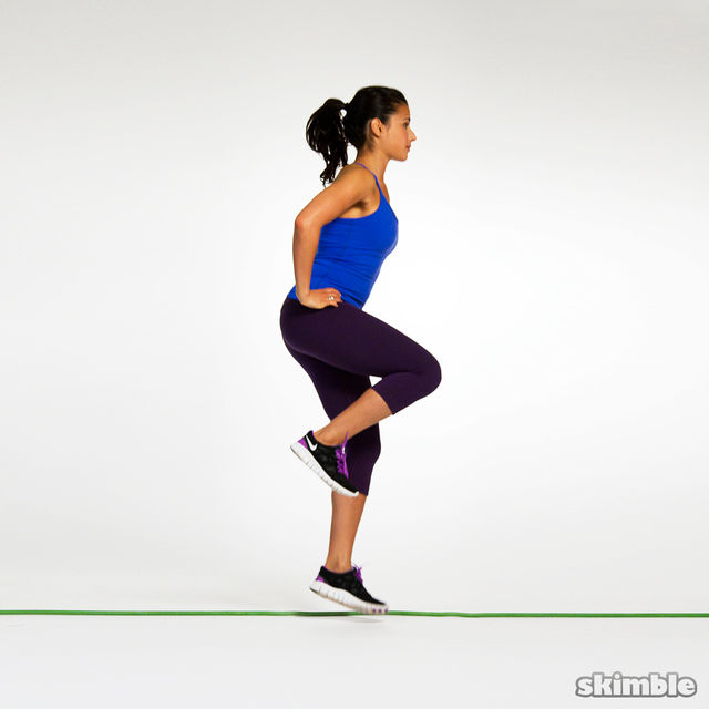 How to do: Single Lateral Hops to Stabilization - Step 5
