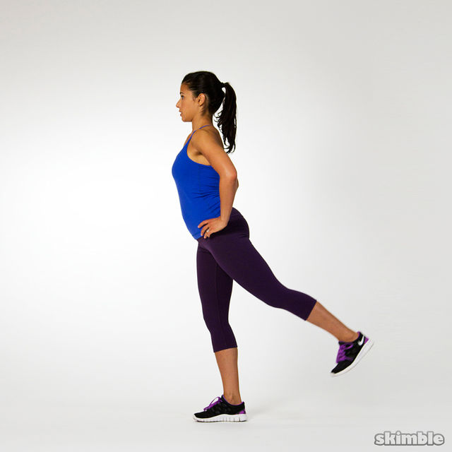 How to do: Single Leg Balance with Leg Swings - Step 4