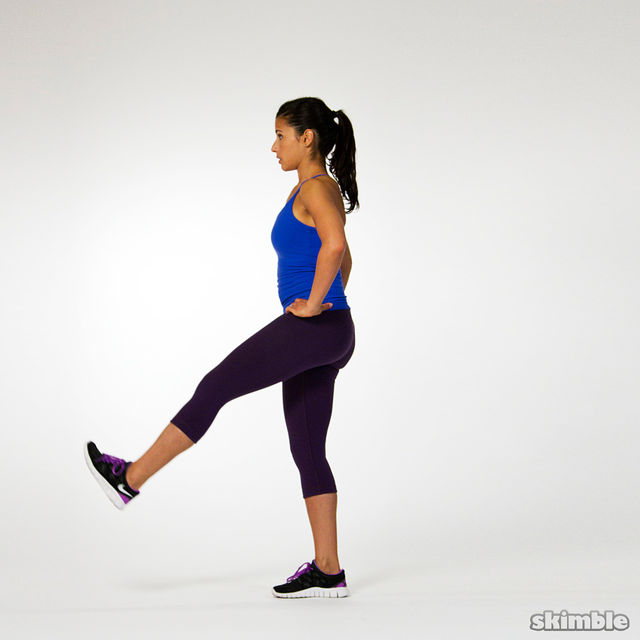 How to do: Single Leg Balance with Leg Swings - Step 2