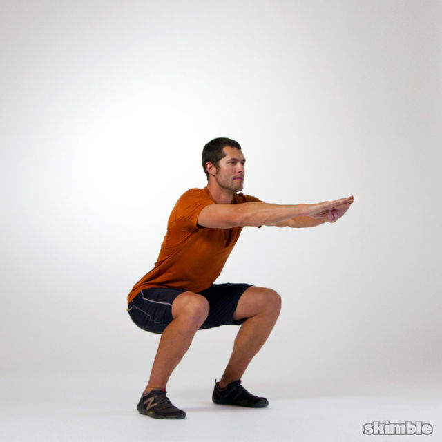 How to do: Squat Pulses - Step 2