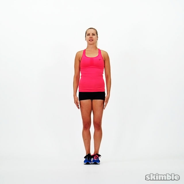 How to do: Squat Jacks - Step 4