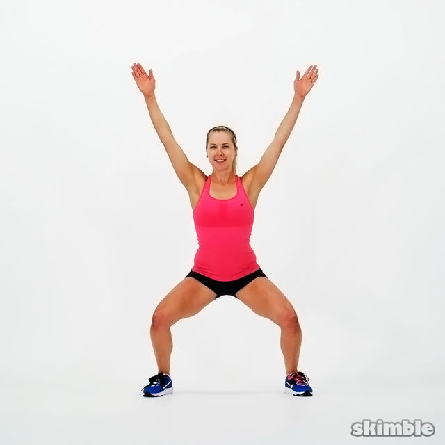 How to do: Squat Jacks - Step 3