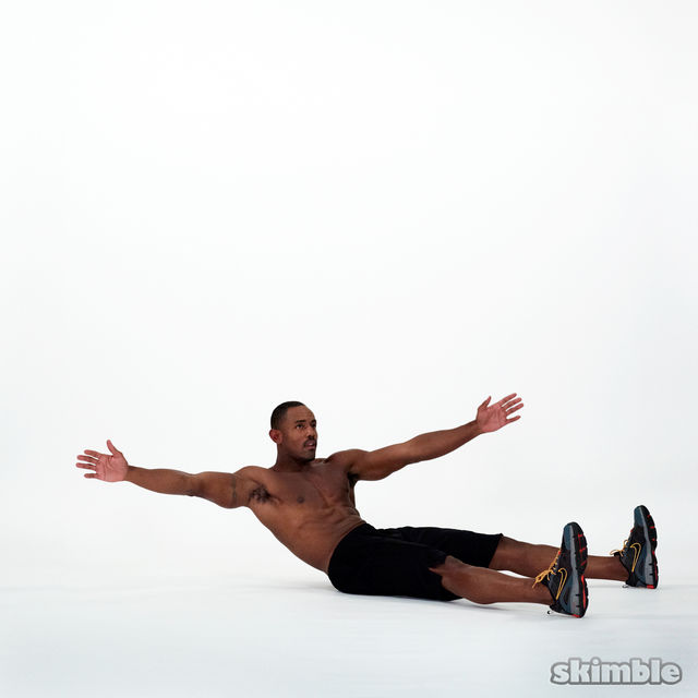 How to do: Wide Leg Sit-Ups - Step 2
