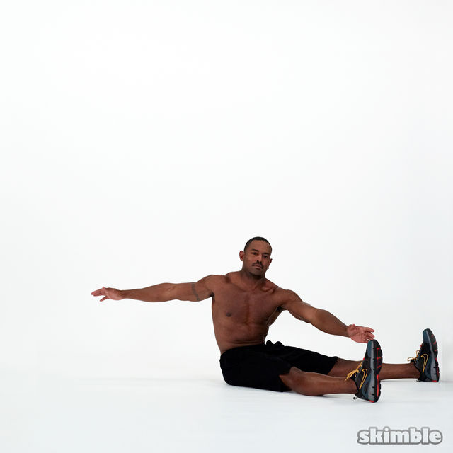 How to do: Wide Leg Sit-Ups - Step 3