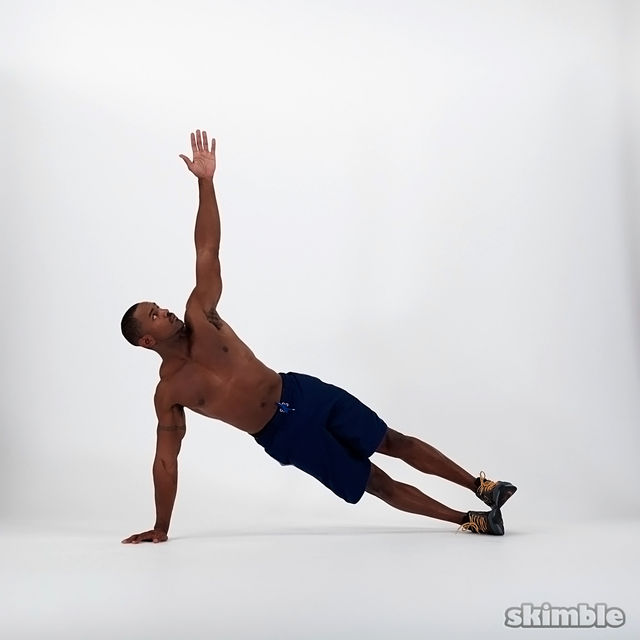 How to do: Right Side Plank - Step 3