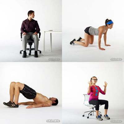 workouts for work or sitting at desk for more than 2 hours