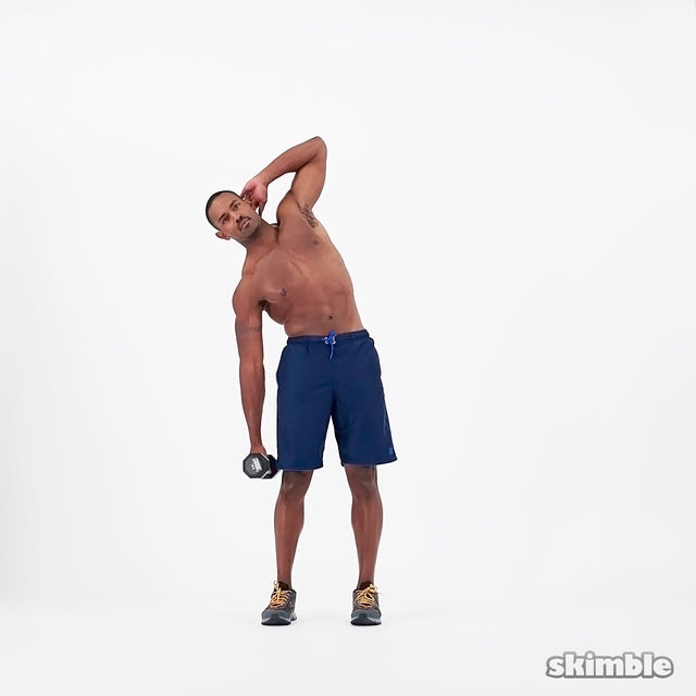 How to do: Dumbbell Right Side Bends - Step 2