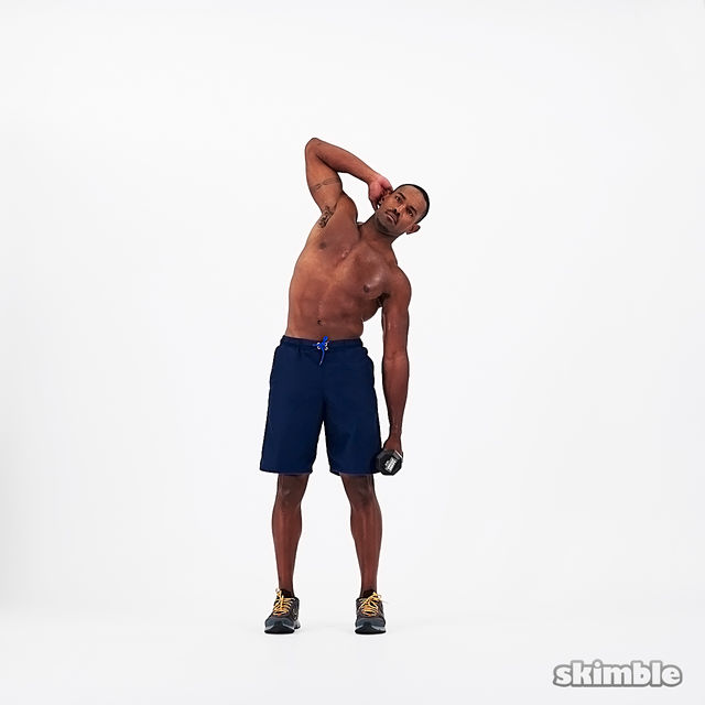 How to do: Dumbbell Left Side Bends - Step 2