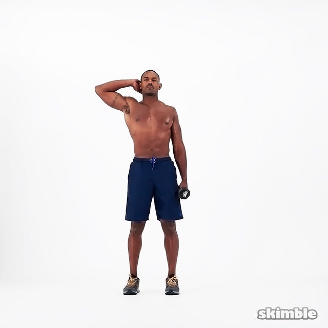 How to do: Dumbbell Left Side Bends - Step 1