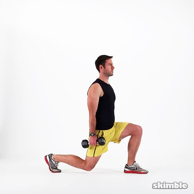 How to do: Dumbbell Lunges - Step 6