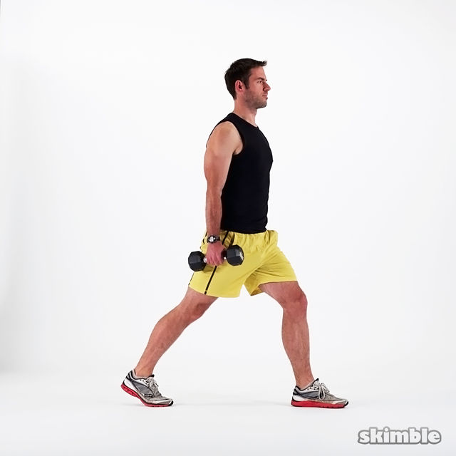How to do: Dumbbell Lunges - Step 5