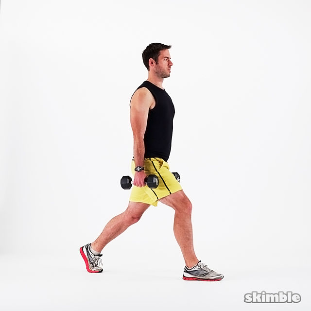 How to do: Dumbbell Lunges - Step 2