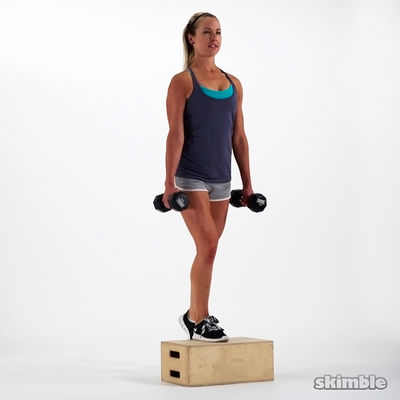 Dumbbell Bench Step Ups