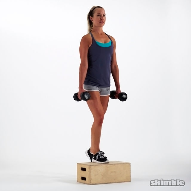 How to do: Dumbbell Bench Step Ups - Step 3