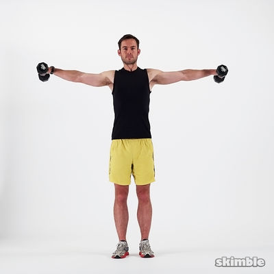 20 Dumbbell Lateral Shoulder Raises