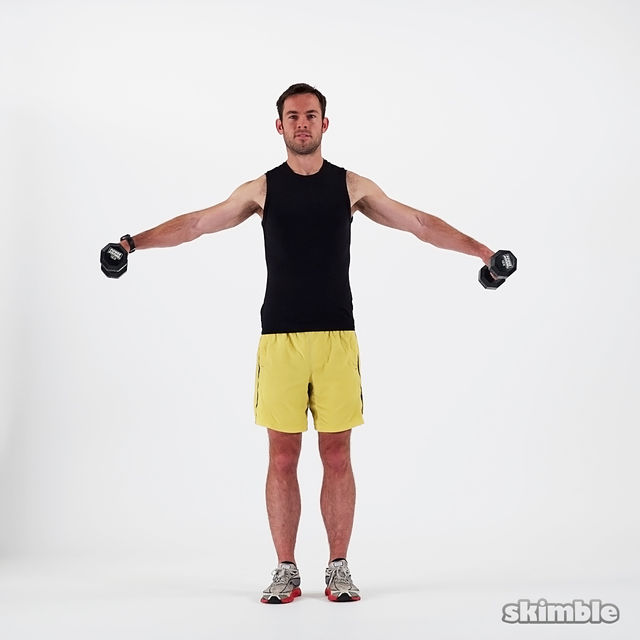 How to do: Dumbbell Lateral Shoulder Raises - Step 6