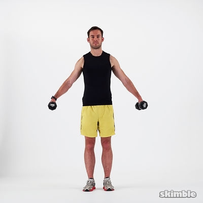 Dumbbell Lateral Shoulder Raises (12 Reps)