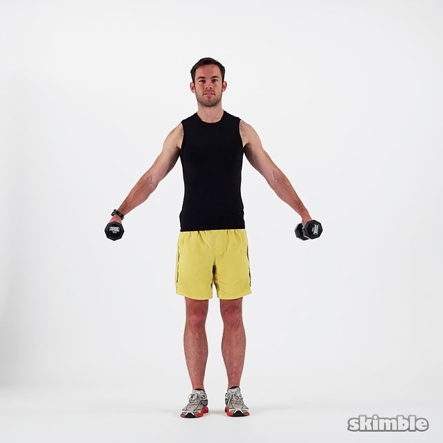 How to do: Dumbbell Lateral Shoulder Raises - Step 4