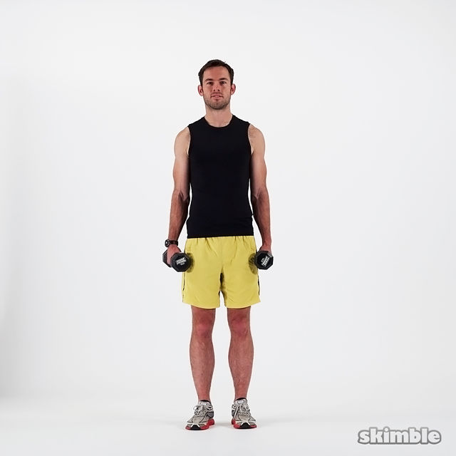 How to do: Dumbbell Lateral Shoulder Raises - Step 3