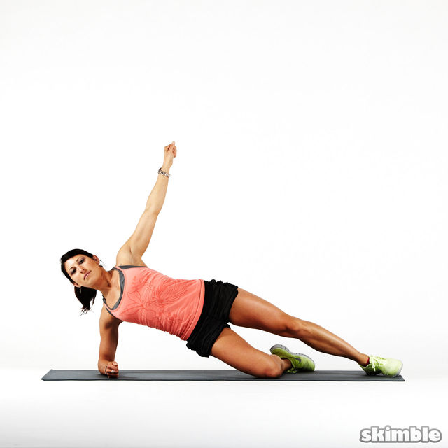 How to do: Kneeling Right Side Plank - Step 1