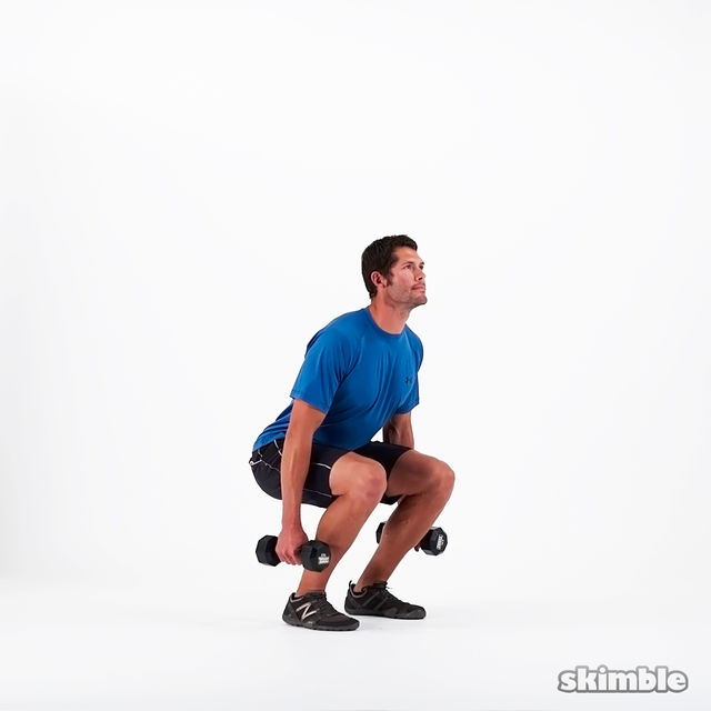 How to do: Dumbbell Squats - Step 3