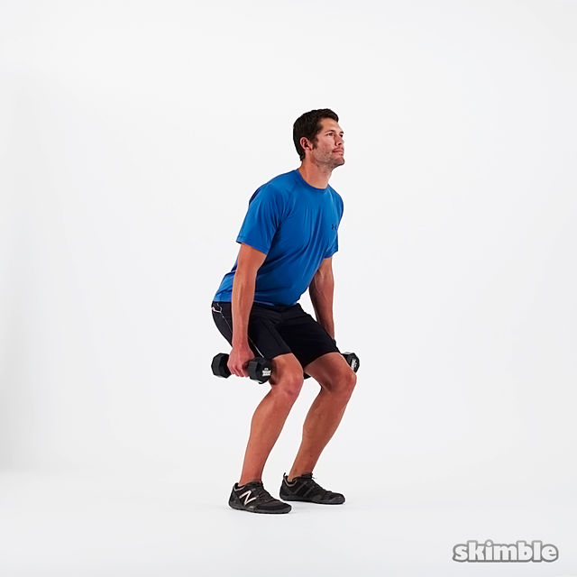 How to do: Dumbbell Squats - Step 2