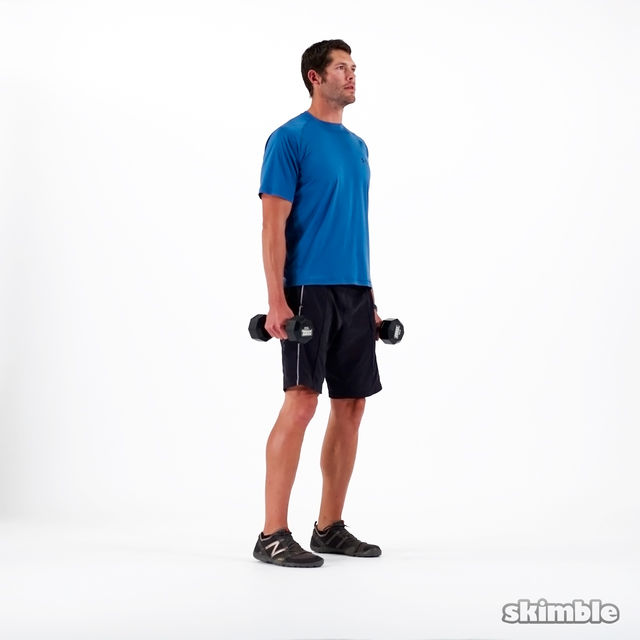 How to do: Dumbbell Squats - Step 1