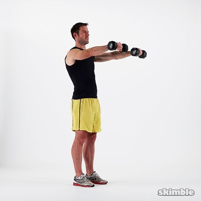 15 Dumbbell Front Raises