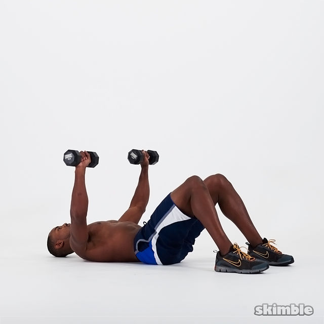 How to do: Dumbbell Chest Press - Step 4