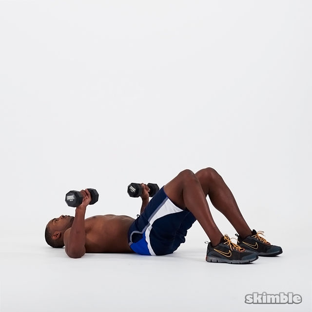 Abs, chest, and triceps