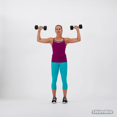 Overhead Press And Pec Squeeze