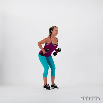Dumbbell Bent Over Rows Six Reps