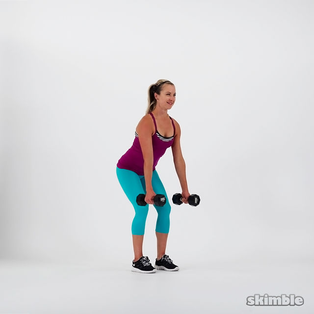 How to do: Dumbbell Bent Over Rows - Step 1