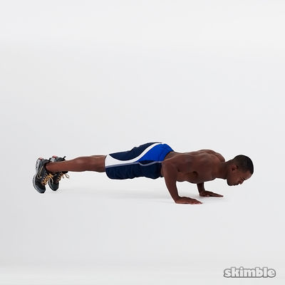 Elbow Plank with Knee Taps