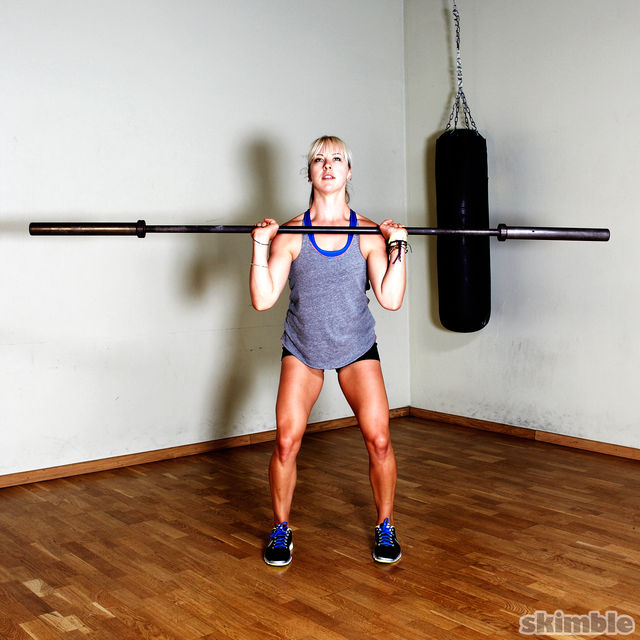 How to do: Barbell Power Cleans - Step 3