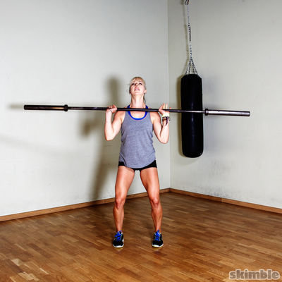 Warmup Barbell Shoulder Press