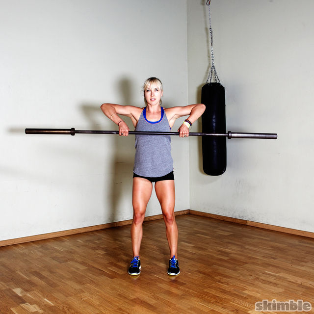 How to do: Barbell Power Cleans - Step 2