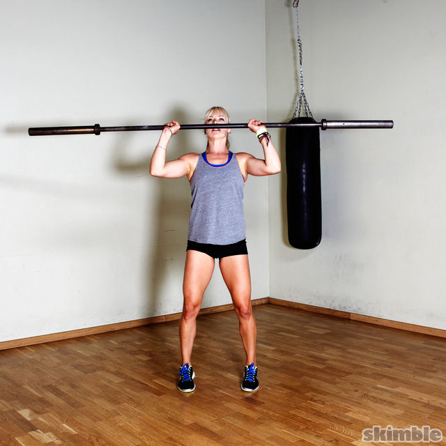 How to do: Barbell Shoulder Press - Step 2