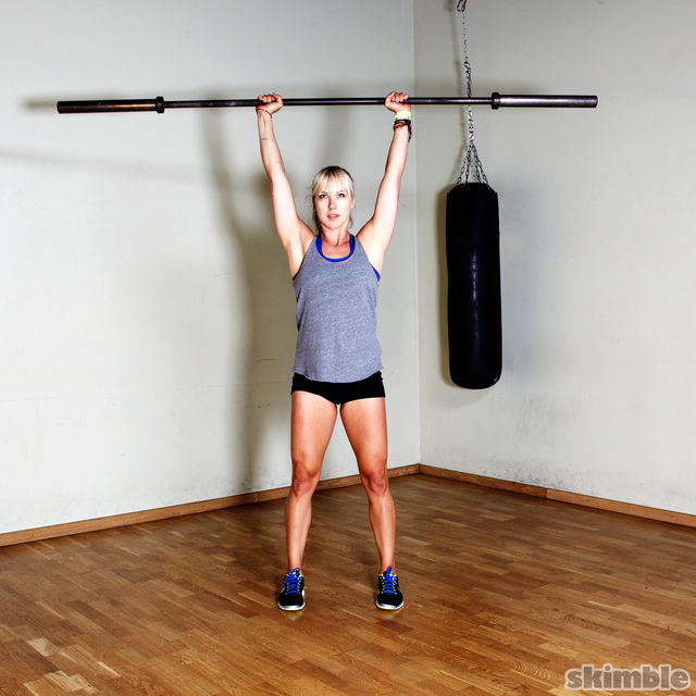 How to do: Barbell Shoulder Press - Step 3