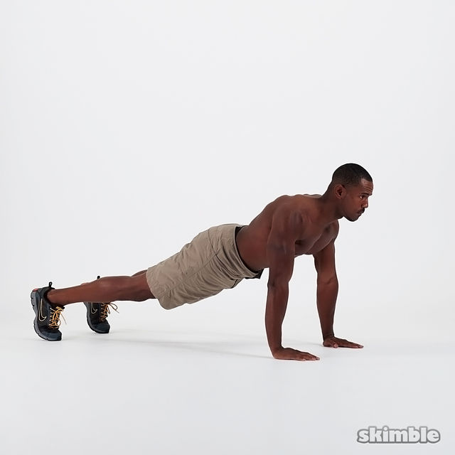 How to do: Push-Up Knee Tucks - Step 4