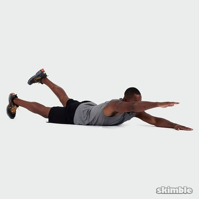 Contralateral Superman Limb Raises
