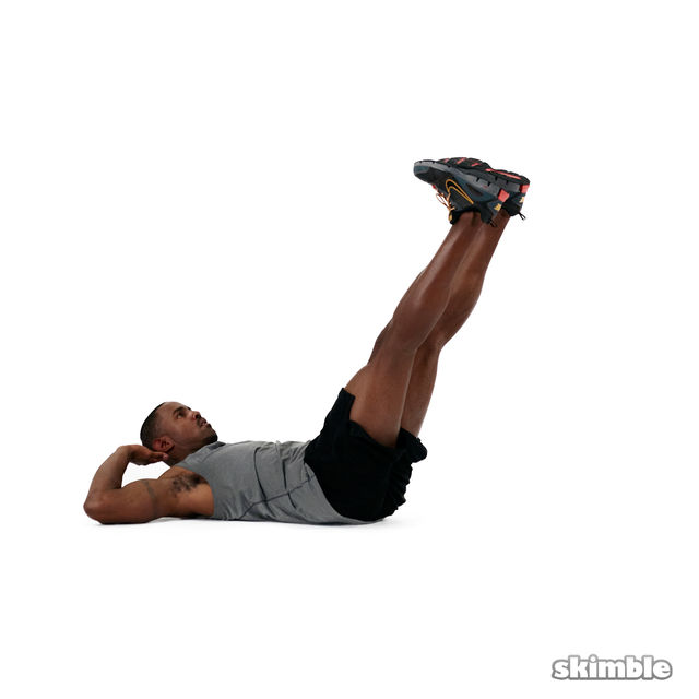 How to do: Straight Leg Bicycle Abs - Step 4