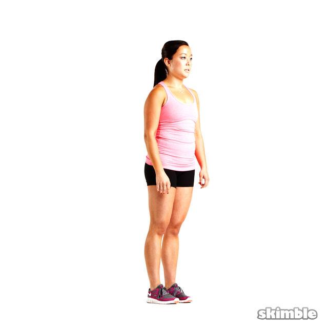 How to do: Left Quad Stretch - Step 1
