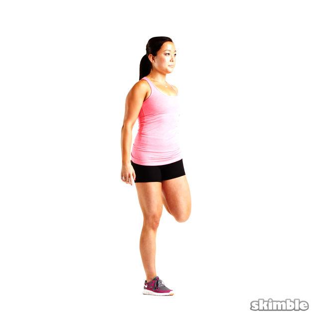 How to do: Left Quad Stretch - Step 2